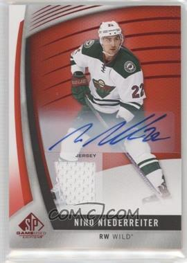 2017-18 Upper Deck SP Game Used - [Base] - Red Auto Jersey [Autographed] [Memorabilia] #76 - Nino Niederreiter