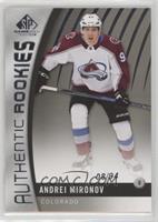 Authentic Rookies - Andrei Mironov #8/94