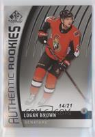 Authentic Rookies - Logan Brown #/21