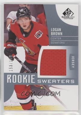 2017-18 Upper Deck SP Game Used - Rookie Sweaters #RS-LB - Logan Brown /199
