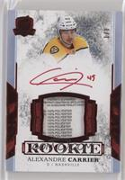 Rookie Tag Autograph - Alexandre Carrier #/8