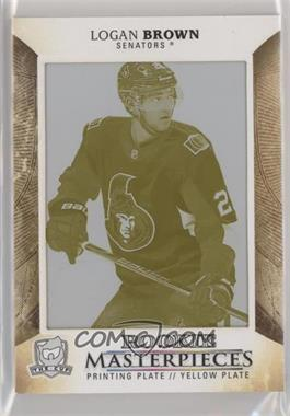 2017-18 Upper Deck The Cup - Premieres - Rookie Masterpieces Printing Plate Yellow #PREM-63 - Logan Brown /1