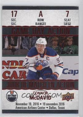 2017-18 Upper Deck Tim Hortons Collector's Series - Game Day Action #GDA-7 - Connor McDavid
