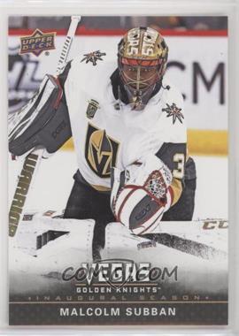2017-18 Upper Deck Vegas Golden Knights - [Base] #28 - Malcolm Subban