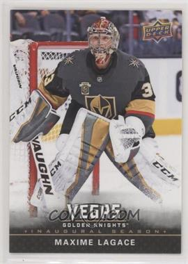 2017-18 Upper Deck Vegas Golden Knights - [Base] #32 - Maxime Lagace
