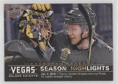 2017-18 Upper Deck Vegas Golden Knights - [Base] #44 - Season Highlights - Eight Wins in a Row