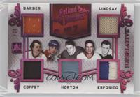 Bill Barber, Ted Lindsay, Paul Coffey, Tim Horton, Phil Esposito #/20