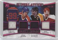 Wayne Gretzky, Mark Messier, Ray Bourque, Mike Gartner /20