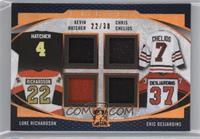 Kevin Hatcher, Chris Chelios, Luke Richardson, Eric Desjardins /30