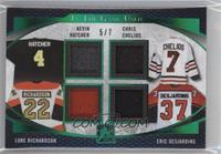 Kevin Hatcher, Chris Chelios, Luke Richardson, Eric Desjardins /7