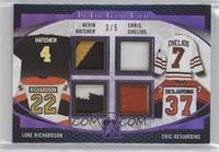Kevin Hatcher, Chris Chelios, Luke Richardson, Eric Desjardins /5