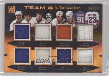 2017 Leaf In the Game Used - Team 8 - Bronze #T8-13 - Mike Bossy, Clark Gillies, Billy Smith, Denis Potvin, Bryan Trottier, Pat LaFontaine, John Tavares, Bob Nystrom /30