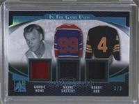 Gordie Howe, Wayne Gretzky, Bobby Orr #3/3