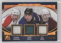 Pierre Turgeon, Adam Oates, Joe Sakic #/30