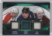 Pierre Turgeon, Adam Oates, Joe Sakic #/7
