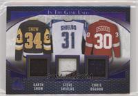 Garth Snow, Steve Shields, Chris Osgood #/12