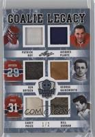 Patrick Roy, Jacques Plante, Ken Dryden, George Hainsworth, Carey Price, Bill D…