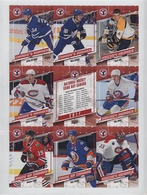 2017 Upper Deck National Hockey Card Day - Canadian Uncut Sheet #CAN 1 - Auston Matthews, Mitch Marner, Bobby Orr, Mikhail Sergachev, Mike Bossy, Jonathan Toews, John Tavares, Patrick Roy