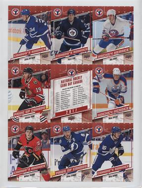 2017 Upper Deck National Hockey Card Day - Canadian Uncut Sheet #CAN 2 - Auston Matthews, Patrik Laine, Mike Bossy, Jonathan Toews, Wayne Gretzky, Matthew Tkachuk, Steven Stamkos, Mitch Marner