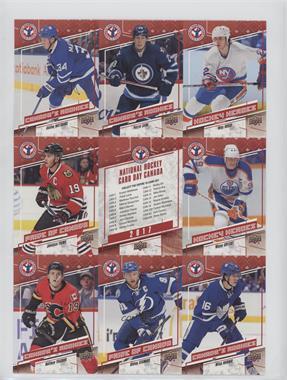2017 Upper Deck National Hockey Card Day - Canadian Uncut Sheet #CAN 2 - Auston Matthews, Patrik Laine, Mike Bossy, Jonathan Toews, Wayne Gretzky, Matthew Tkachuk, Steven Stamkos, Mitch Marner