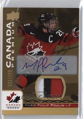 2017 Upper Deck Team Canada Juniors - [Base] - Premium Materials Auto [Autographed] [Memorabilia] #29 - Marie-Philip Poulin /199