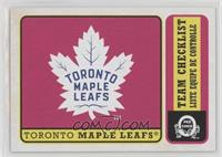 Team Checklist - Toronto Maple Leafs