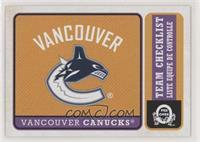 Team Checklist - Vancouver Canucks