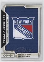 Team Checklist - New York Rangers