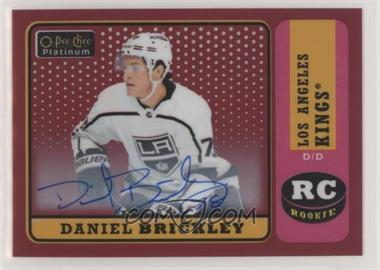 2018-19 O-Pee-Chee Platinum - Retro - Red Rainbow Autographs [Autographed] #R-99 - Daniel Brickley