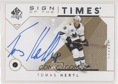 2018-19 SP Authentic - Sign of the Times #SOTT-TH - Tomas Hertl