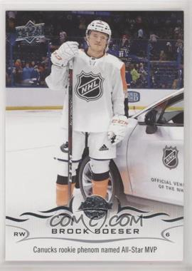 2018-19 SP Authentic - Upper Deck Update #528 - Brock Boeser