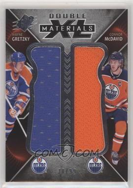 2018-19 SPx - Double XL Duos Materials #XD-GM - Tier 2 - Wayne Gretzky, Connor McDavid /99