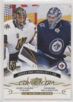 Checklist - Marc-Andre Fleury, Connor Hellebuyck #/10