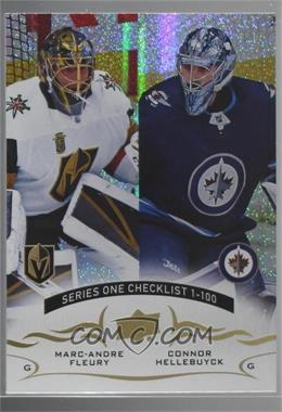 2018-19 Upper Deck - [Base] - Speckled Rainbow Foil #199 - Marc-Andre Fleury, Connor Hellebuyck