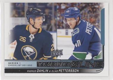 2018-19 Upper Deck - [Base] #250 - Young Guns - Elias Pettersson, Rasmus Dahlin