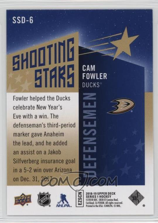2018-19 Upper Deck - Shooting Stars Defensemen #SSD-6 - Cam