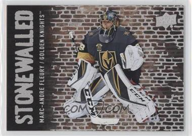 2018-19 Upper Deck - Stonewalled #SW-40 - Marc-Andre Fleury