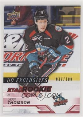 2018-19 Upper Deck CHL - [Base] - Exclusives #395 - Star Rookies - Lassi Thomson /100