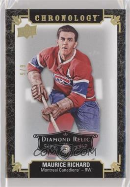 2018-19 Upper Deck Chronology - [Base] - Black Diamond Relic #9 - Maurice Richard /9