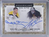 Bobby Orr, Gerry Cheevers #/25