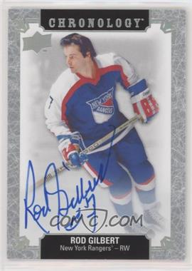2018-19 Upper Deck Chronology - Franchise History Autographs #FH-NYR-RG - Rod Gilbert