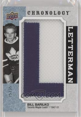 2018-19 Upper Deck Chronology - Letterman Patches Letter Relics #L-TO-BB - Bill Barilko /35