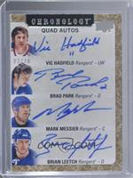 Vic Hadfield, Brad Park, Mark Messier, Brian Leetch #/10