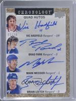 Vic Hadfield, Brad Park, Mark Messier, Brian Leetch #/10