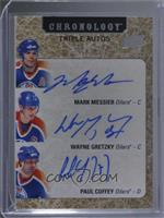 Mark Messier, Wayne Gretzky, Paul Coffey #/15