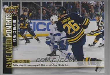 2018-19 Upper Deck Game Dated Moments - [Base] #47 - (Jan. 12, 2019) – Dahlin Joins an Exclusive Crew of Defensemen to Reach 20 Assists Before Their 19th Birthday