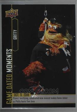 2018-19 Upper Deck Game Dated Moments - [Base] #5 - (Oct. 9, 2018) – The Flyer's Polarizing New Mascot, Gritty, Rappels from Ceiling in Debut