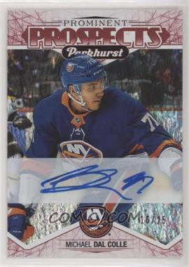 2018-19 Upper Deck Parkhurst - Prominent Prospects - Red Autographs [Autographed] #PP-18 - Michael Dal Colle /25