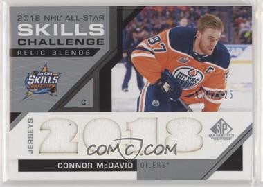 2018-19 Upper Deck SP Game Used - 2018 All-Star Skills Relic Blends #ASRB-CM - Connor McDavid /125