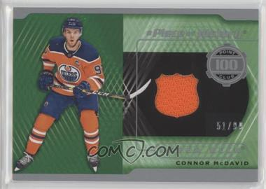 2018-19 Upper Deck SP Game Used - A Piece of History: 100 Point Season Club #100-CM - Connor McDavid /99